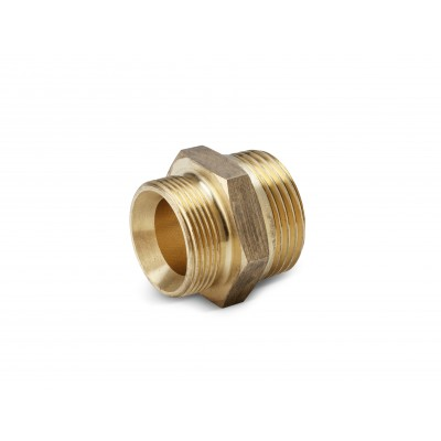 """Karcher Professional Stationary High-Pressure Double-ended union R 1/2"""" x M 22 x 1,5, brass"""