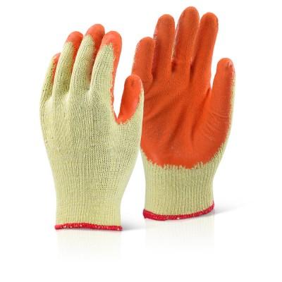 Palm Coated Orange Gloves-Large