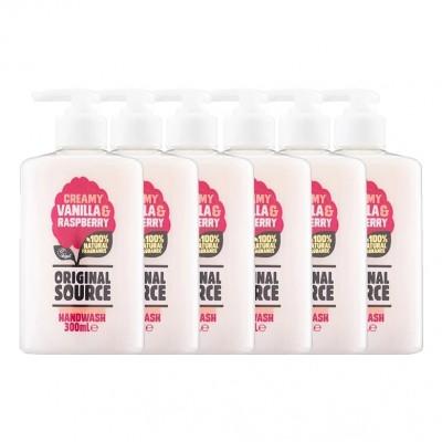 Original Source Creamy Vanilla & Raspberry Hand Wash 300ml Pack of 6