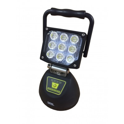 27W Rechargeable Cordless LED Work Light - 1800 Lumens