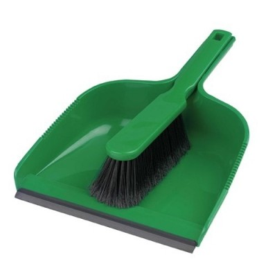 Dust Pan And Brush Set Green