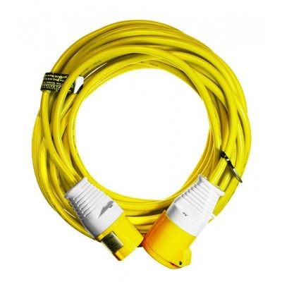 14 Metre 110V Extension Lead - 2.5mm 16amp