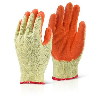 Palm Coated Orange Gloves-Large
