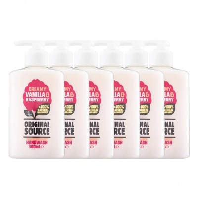 Original Source Creamy Vanilla & Raspberry Hand Wash 300ml Pack of 6