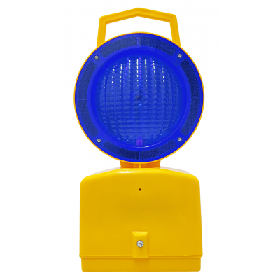 Blue Lens Solid and Flashing Til-Dawn Light (Points Run Through Lamp) Blue