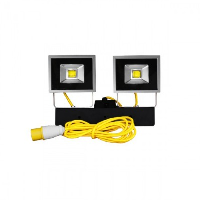 110V, 20 Watt LED Twin Head Flood Light